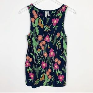 Anthropologie | Meadow Rue Cartagena Floral Tank
